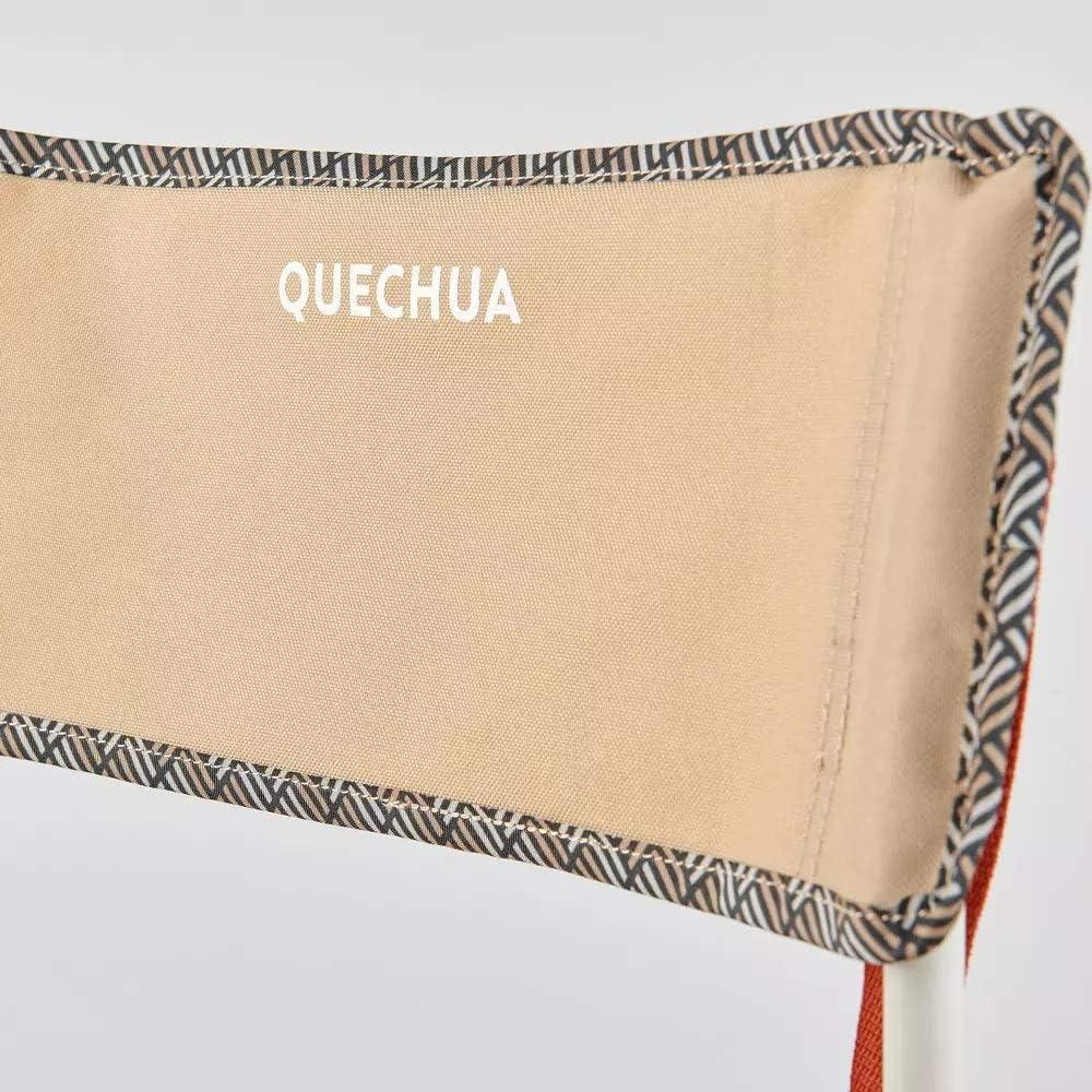 Quechua - Silla de camping Basic plegable, color beige, 110 ...