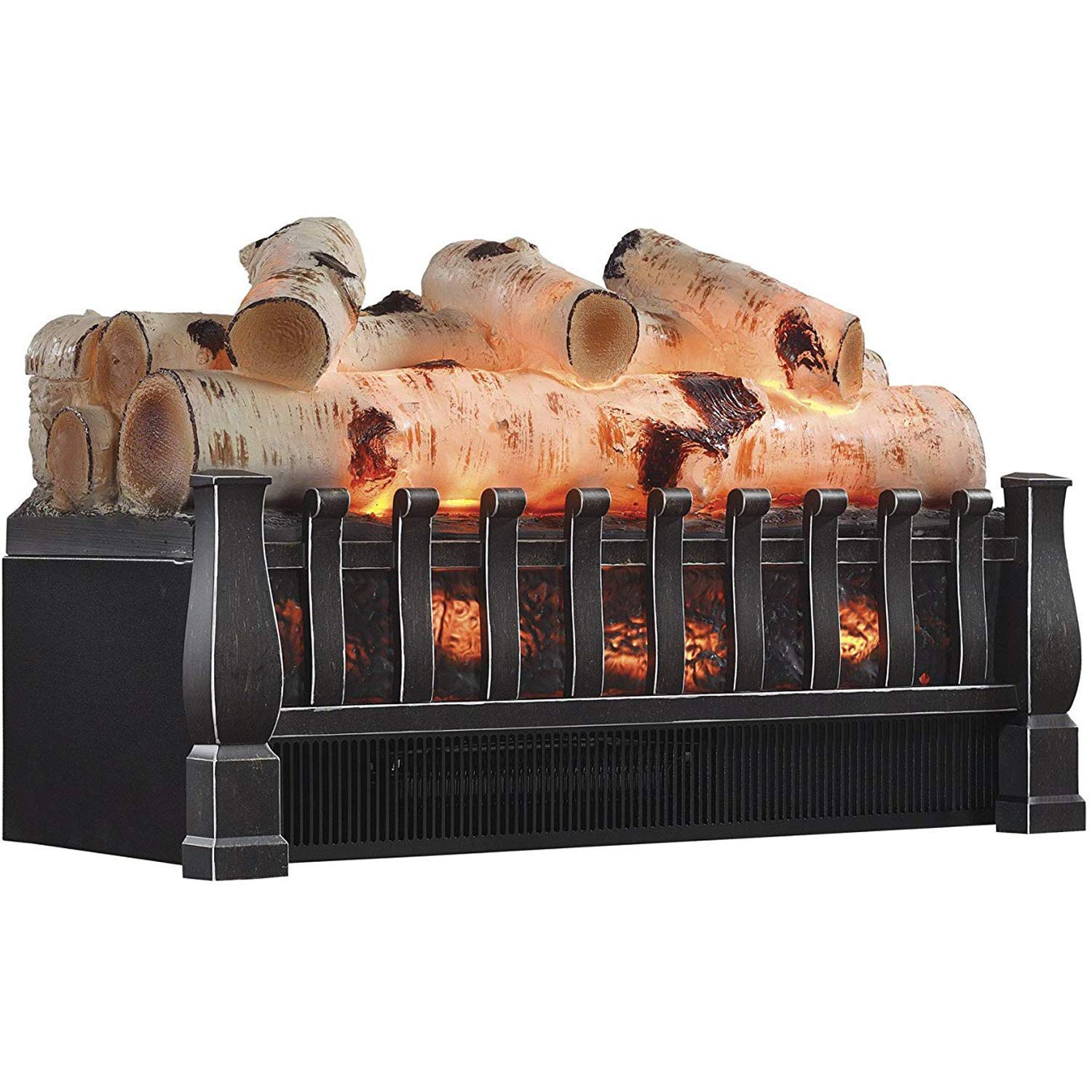Regal Flame 20 Inch Electric Fireplace Log Realistic Ember Bed Insert with Heater in Birch by Regal Flame
