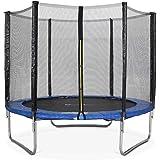 ALICE'S GARDEN - Garden Trampoline - Pluton 8ft Trampoline with Safety net - Blue - PRO Quality | EU Standards