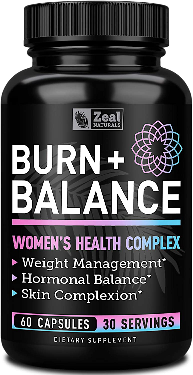 Weight Loss Pills for Women + Daily Balance Vitamins (Iron, Vitamin D, Setria®, Folate,+) Premium Diet Pills for Women + Womens Multivitamin with Iron, D & B Vitamins & Hormone Balance for Women