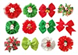PET SHOW 12pcs Xmas Small Dogs Collar Bows