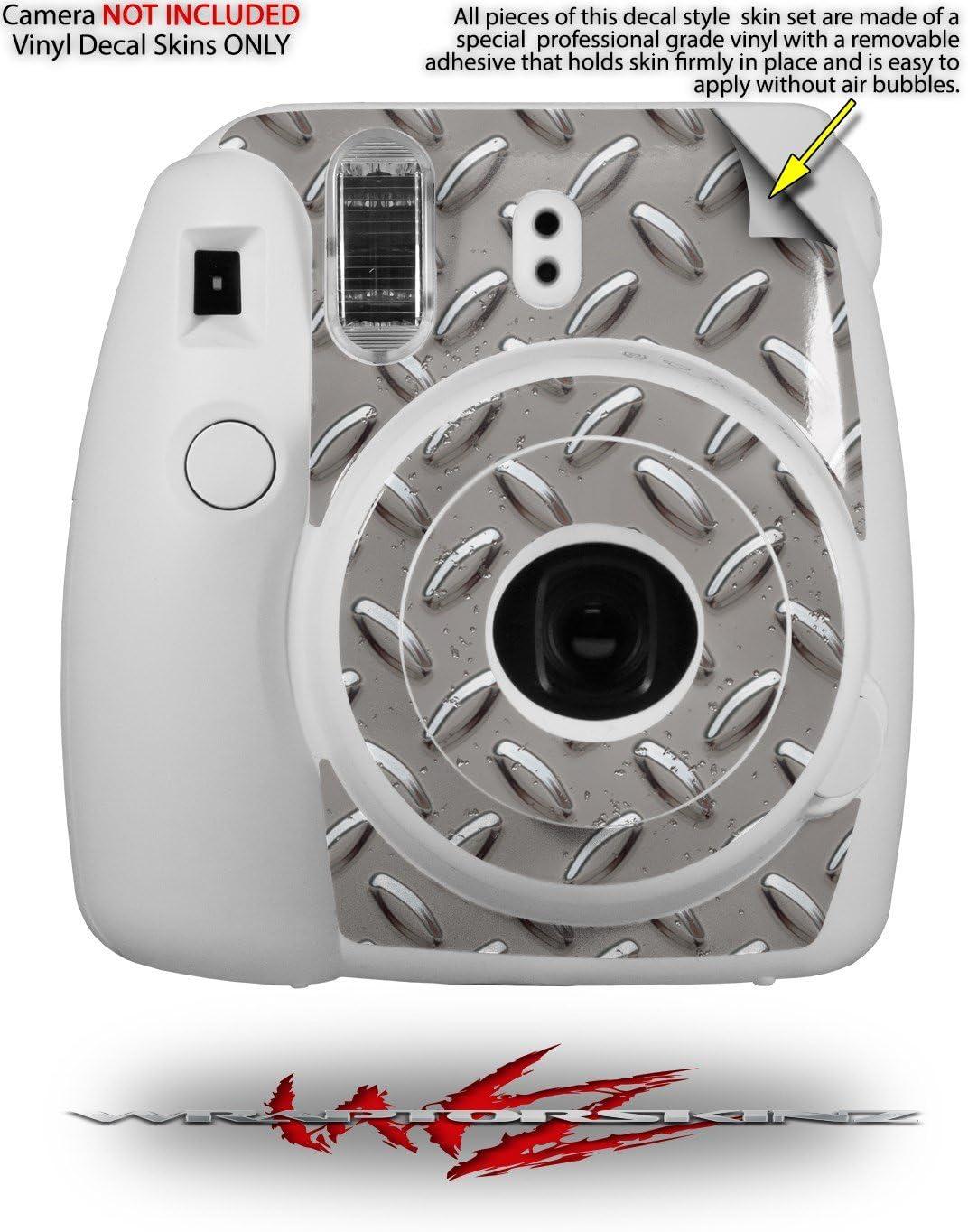 CAMERA NOT INCLUDED WraptorSkinz Skin Decal Wrap for Fujifilm Instax Mini 8 Camera Diamond Plate Metal 02