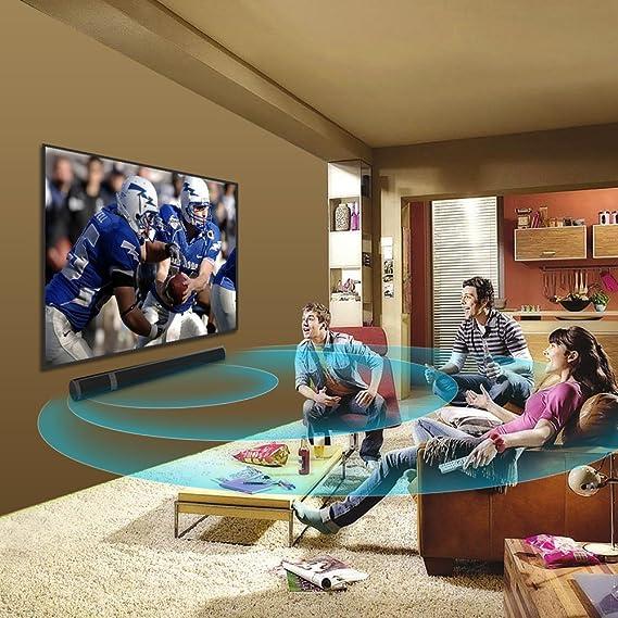 Meidong Barra de Sonido inalámbrica, Sonido Envolvente y Bajo Profundo Altavoces Bluetooth TV Canal de 36 Pulgadas 2.0 Cine en Casa Soundbar con Óptico/RCA/AUX/Bluetooth/Remote Control: Amazon.es: Electrónica