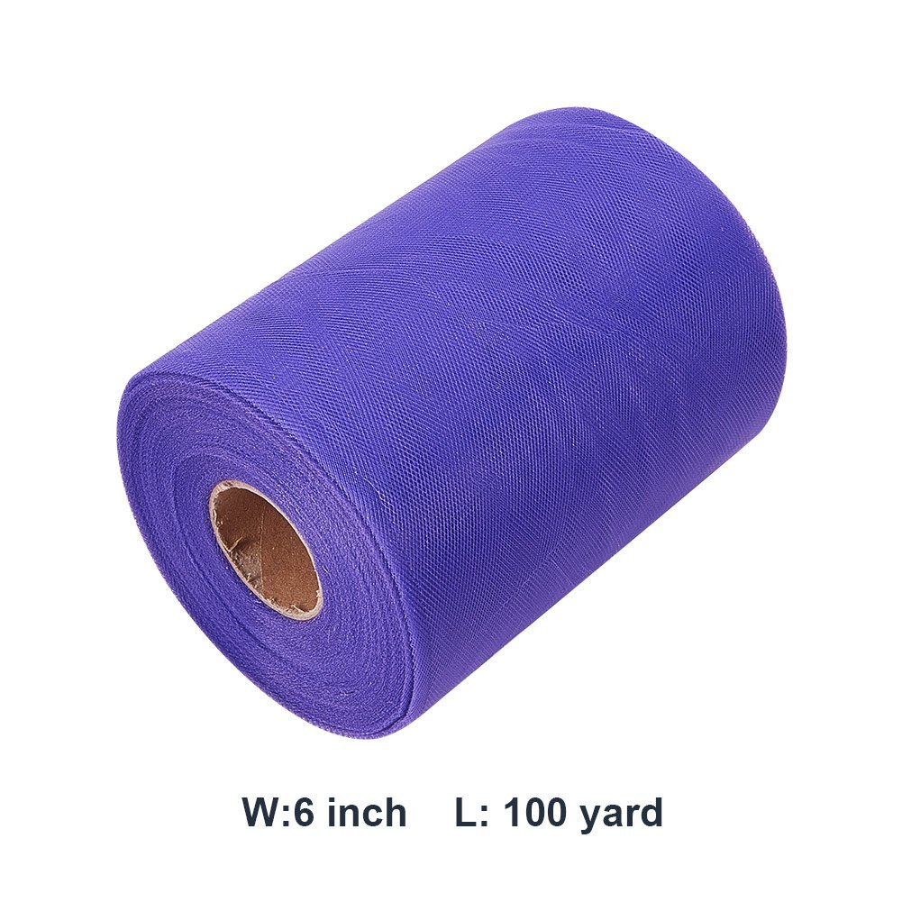 Purple BENECREAT 2 Roll 200 Yards//600FT Tulle Fabric Rolls Spool for Wedding Party Decoration DIY Craft 6 Inch x 100 Yards Each