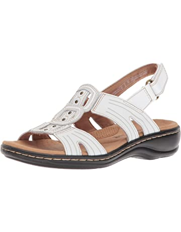 0b54a3b53d2 Clarks Womens Leisa Vine Leather Open Toe Casual Ankle Strap Sandals