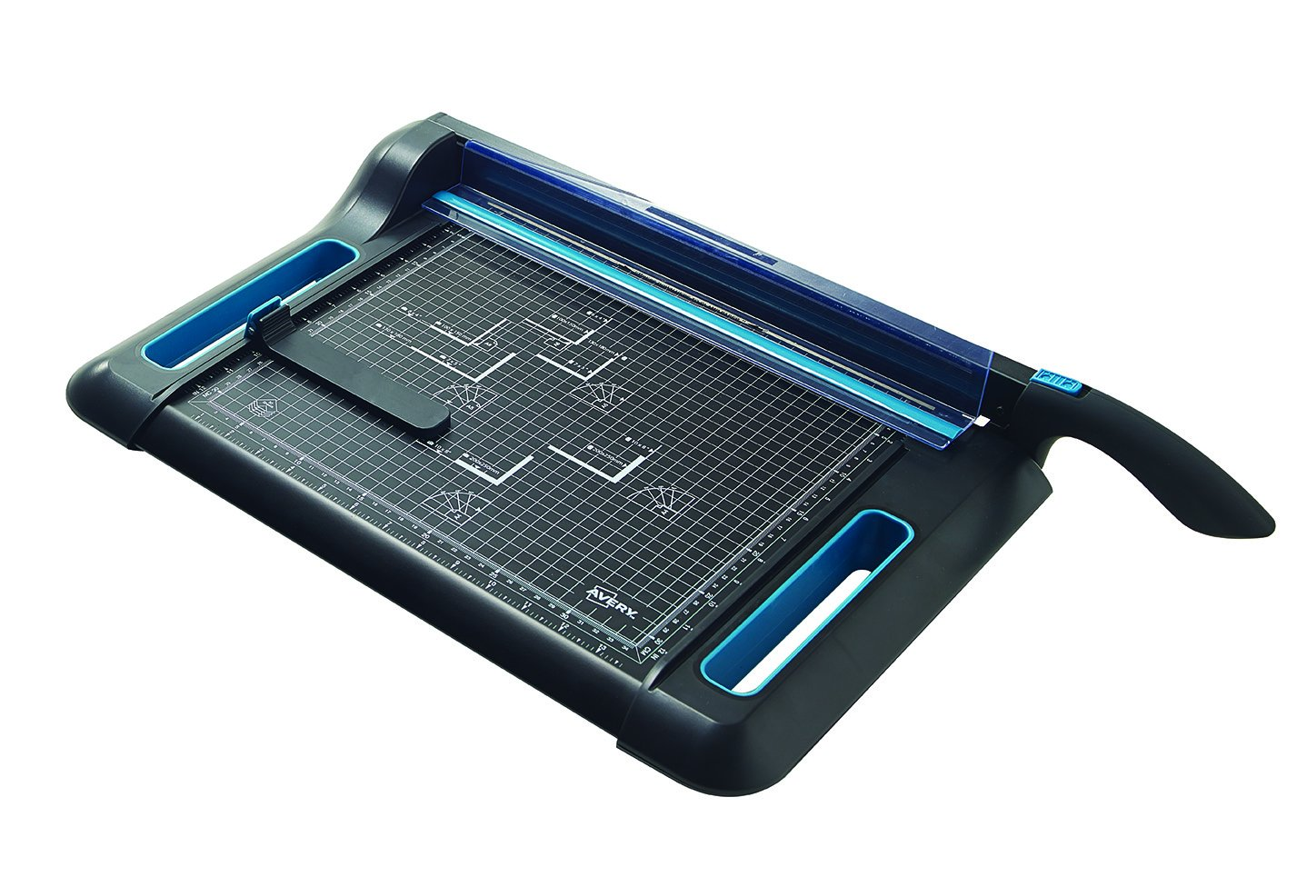 Avery A4 PG360 Precision Guillotine Paper Cutter, Black and Teal