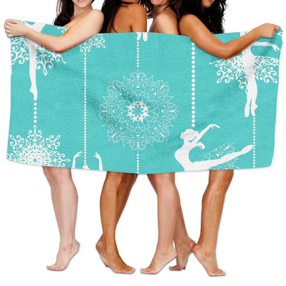 32 Inch51 Inch Bath Towel Ballet Dance Soft High Water Absorption Wrap Washcloths