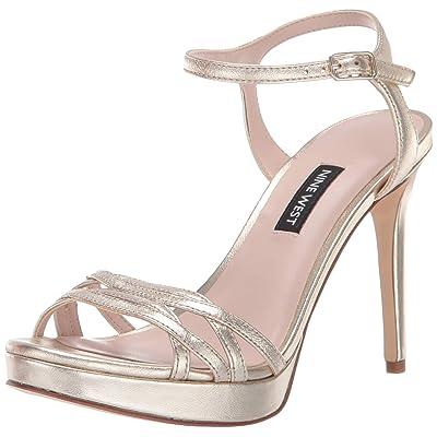 NINE WEST Women's Quicklime Metallic Heeled Sandal | Heeled Sandals
