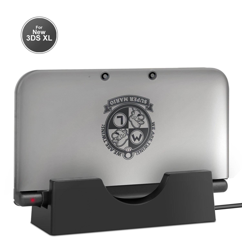 Base de Carga Nintendo 3DS, Estación de Carga de Batería Keten Para New Nintendo 3DS XL, Base de Carga Nintendo 3DS con Cargador USB para New Nintendo ...