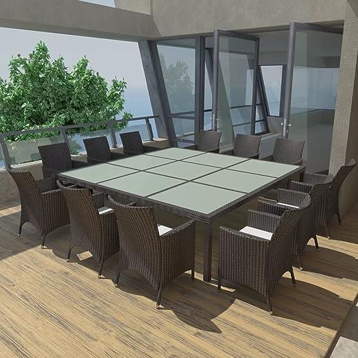 Luckyfu questo Juego Mesa sillas de jardín 25 Unidades de ...