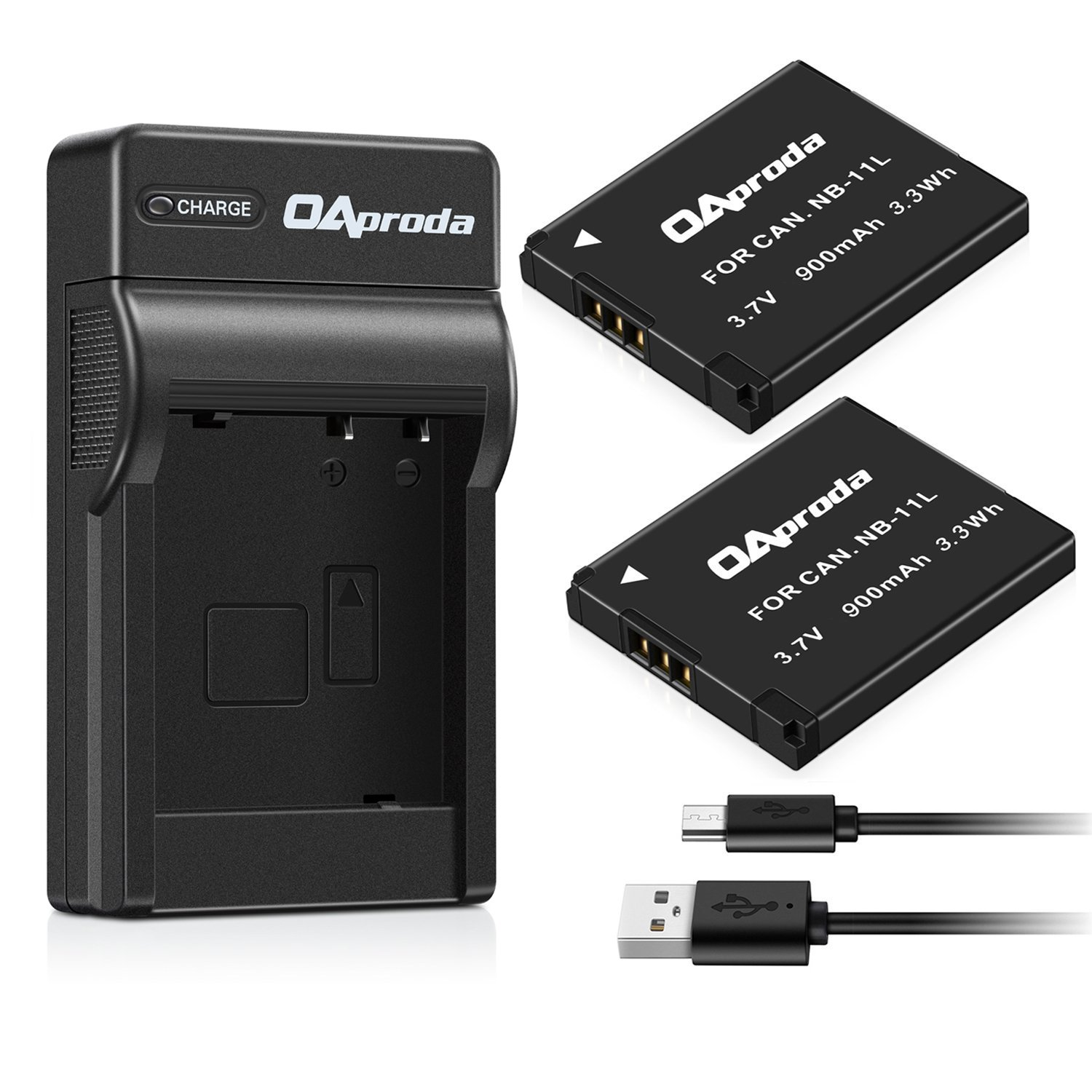 OAproda 2 Pack NB-11L/ NB-11LH Battery and USB Charger for Canon PowerShot ELPH 180, ELPH 190 is, SX420 is, SX410 is, SX400 is, A4000 is, Elph 360 HS, ELPH 170 is, ELPH 160, ELPH 150 is, ELPH 140 is by OAproda
