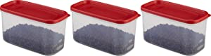 Rubbermaid 10-Cup Dry Food Container (Set of 3), Clear
