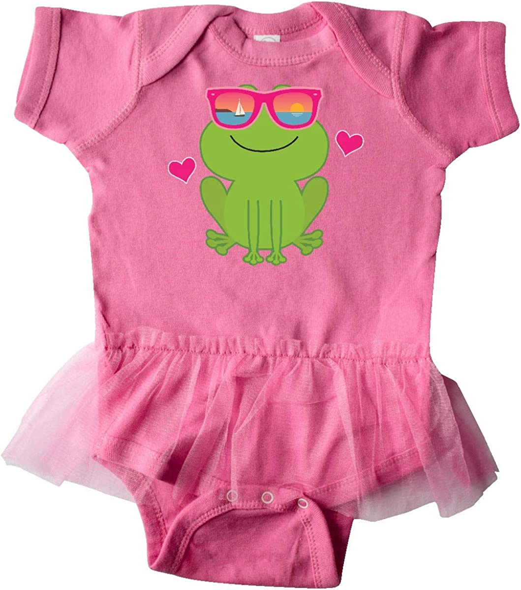 inktastic Summer Frog Beach Vacation Sunglasses Infant Tutu Bodysuit