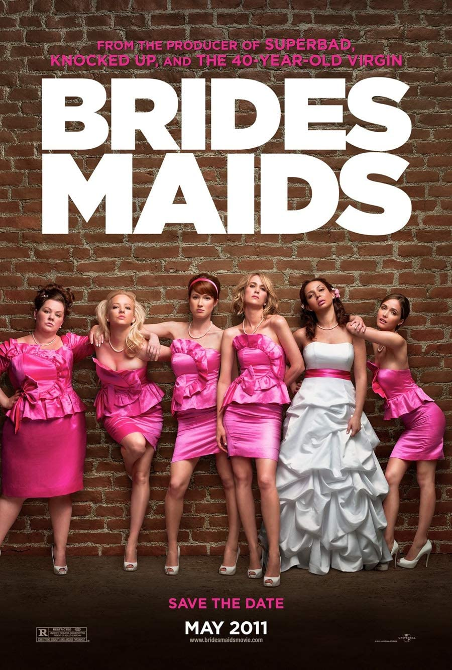 BRIDESMAIDS MOVIE POSTER 2 Sided ORIGINAL Advance 27x40 KRISTIN WIIG MELISSA MCCARTHY
