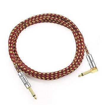 Cable amplificador para guitarra eléctrica, de AIHIKO, cable instrumental de 3 m, trenzado