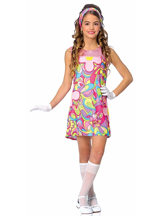 60s 70s Kids Costumes & Clothing Girls & Boys Childrens Groovy Girl Costume $25.64 AT vintagedancer.com