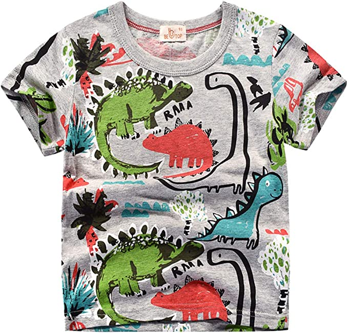 Niños Camiseta de Manga Corta Camisetas de algodón con Estampado ...