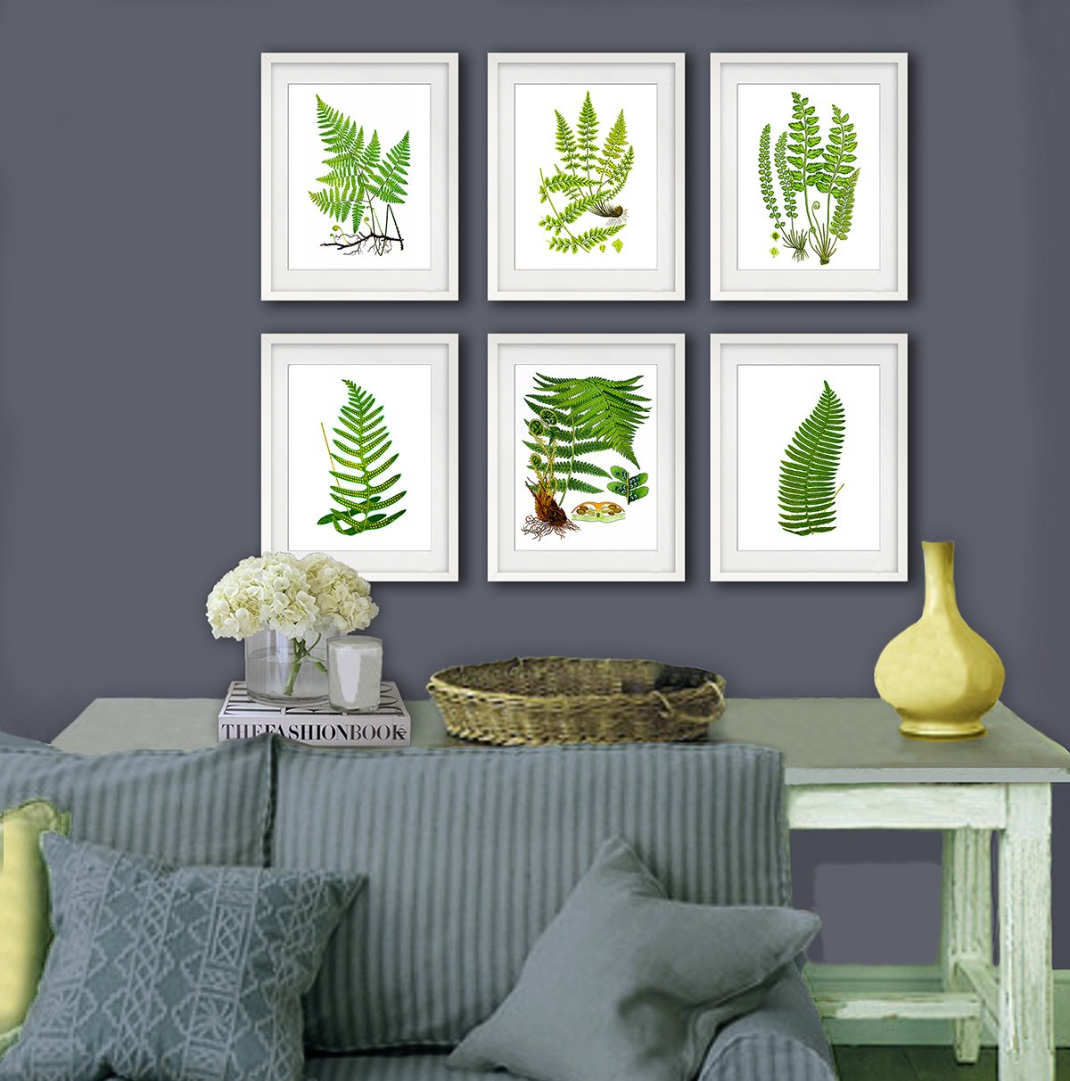 Amazon.com Fern Botanical Wall Art Unframed Set of 6 Home Decor Art Prints Posters u0026 Prints & Amazon.com: Fern Botanical Wall Art Unframed Set of 6 Home Decor Art ...