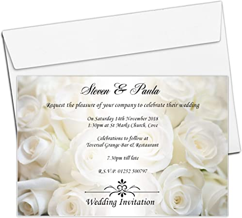 Rose Wedding Invitations
