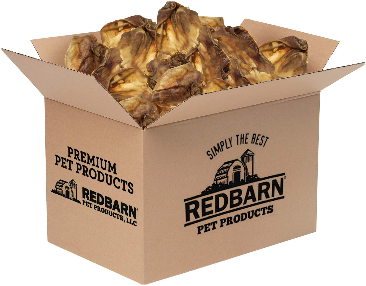 REDBARN Natural Pig Ear Dog Chew, 100 Count