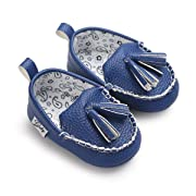 Sabe Winter Newborn Baby Girls Boys Tassels Velvet Soft Sole Loafer Shoes Prewalker Moccasin (0-6 Month, Blue)