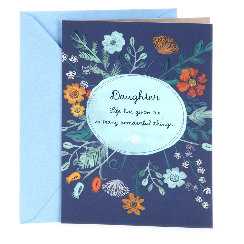 Hallmark Tree Of Life Hanukkah Greeting Card For Daughter Floral