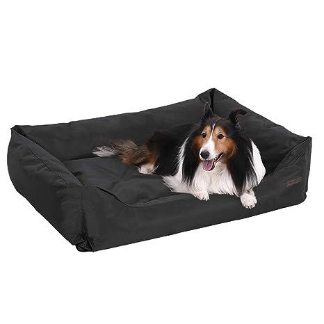 FEANDREA XXL Cama Ortopédica para Perros, Cómoda Cuna para Mascotas, Rectangular, Tamaño Grande,120 x 85cm, Negro PGW30H