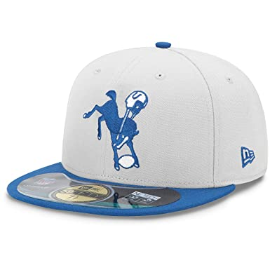 NFL Mens Indianapolis Colts On Field 5950 Royal Blue Game Cap By New Era