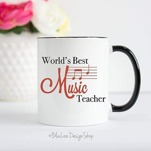 Taza para profesor de música, regalo para profesor de música, profesor de música, profesor de música, regalo de música: Amazon.es: Hogar