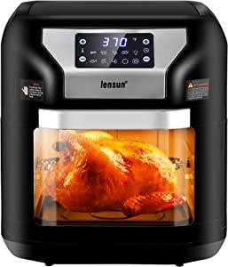 SAVWAY Air Fryer Oven 10.6QT, All in One XXL Kitchen Air Oven with Rotisserie and Dehydrator, Multifunctional Oven Toaster, Convection Oven with Intelligent Screen and All Accessories Included