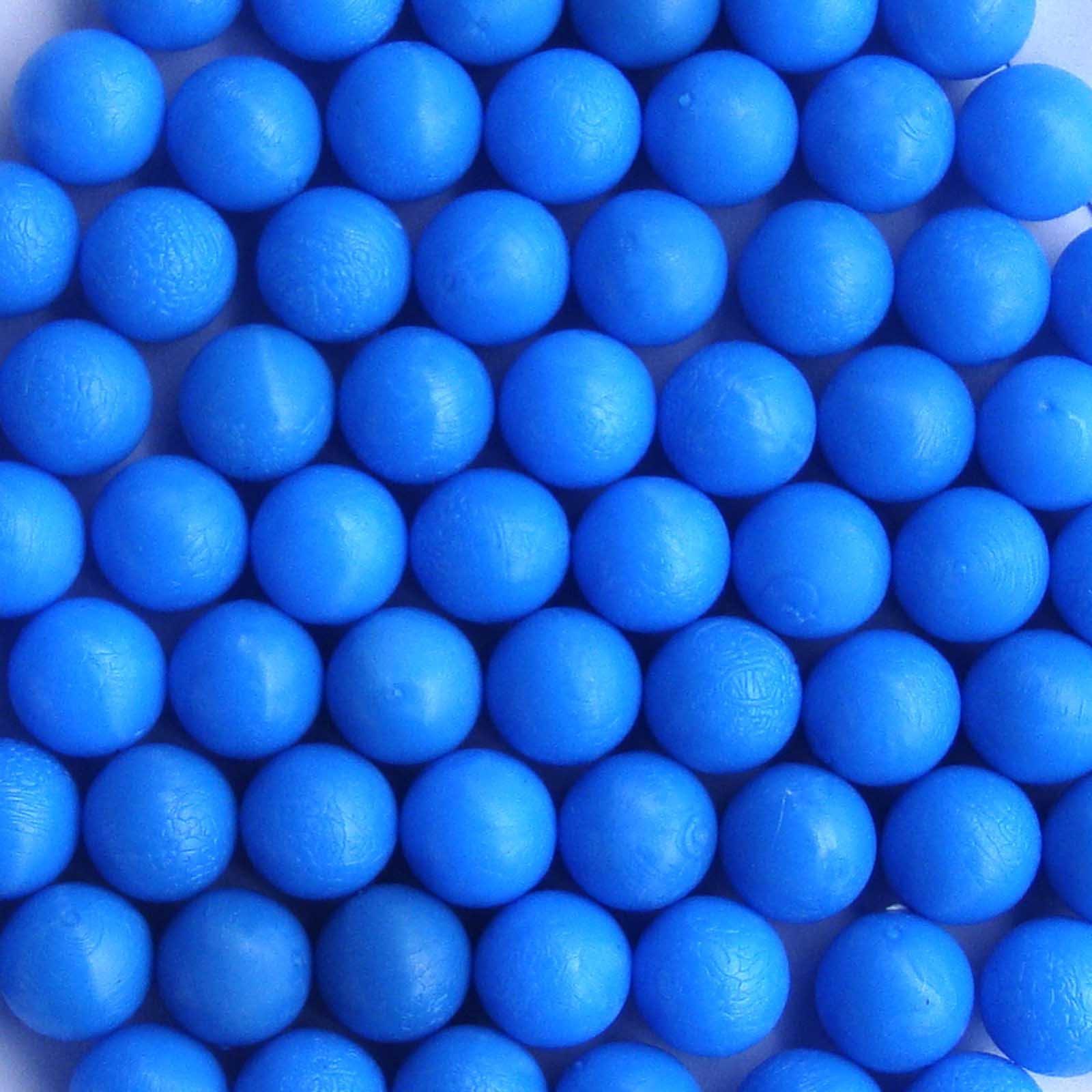 50 New .68 Cal Reusable Rubber Training Balls Paintballs Blue Color
