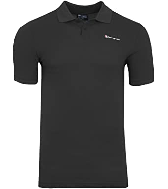858595ec5a9d Champion Benz Polo Shirt Herren Poloshirt Polohemd Schwarz 210615 2175