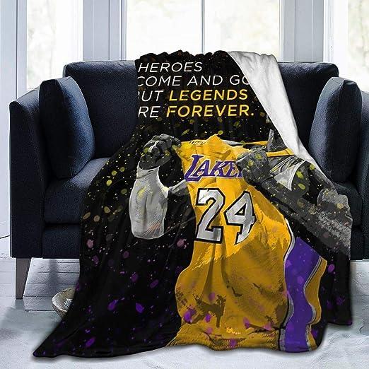 Kobe Bryant 24 Kobe Black Mamba Sofa Fleece Blanket Mothers Day Gift V2