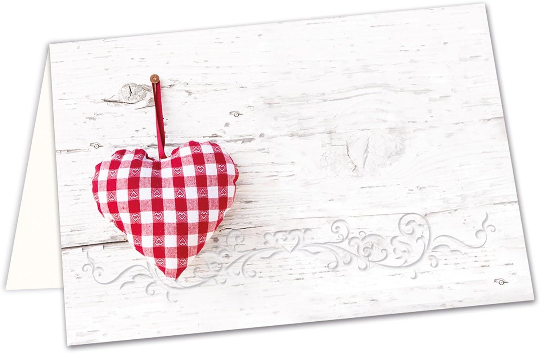 50pieza Blanco Rojo Cuadros Corazón Tarjetas De Mesa Tarjetas de tarjetas de carteles Asiento Espacio Nombre–con cualquier lápiz escribir–Comunión para bodas Navidad Cumpleaños Bautizo San Valent