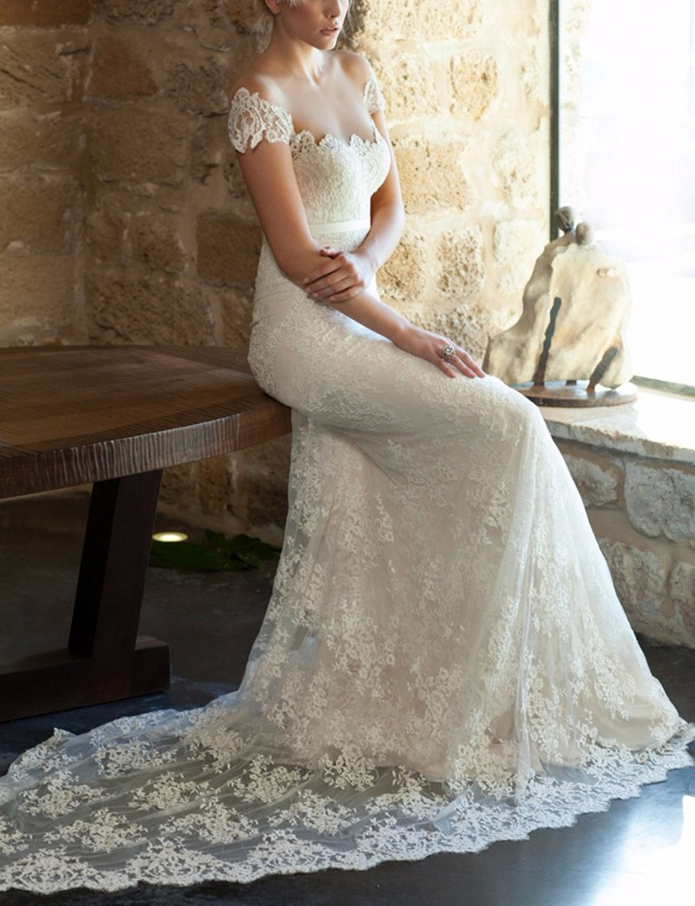 CoCogirls Bridal Jahrgang Spitze Bohemien Hochzeitskleid ...