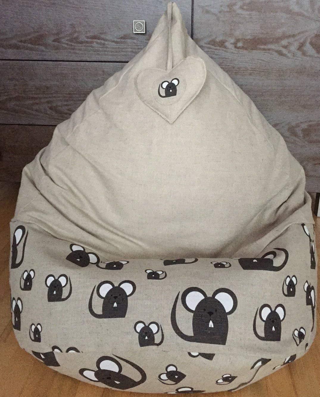 Enjoyable Amazon Com Natural Linen Kids Beanbag With Heart Eco Inzonedesignstudio Interior Chair Design Inzonedesignstudiocom