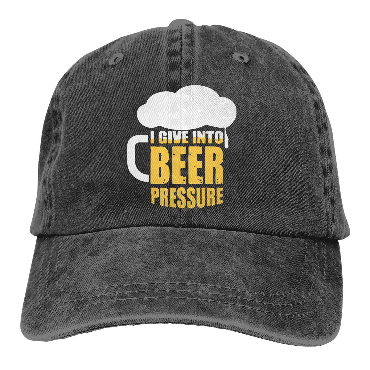 PMGM-C I Give Into Beer Unisex Personalize Jeans Outdoor Sports Hat Adjustable Baseball Cap