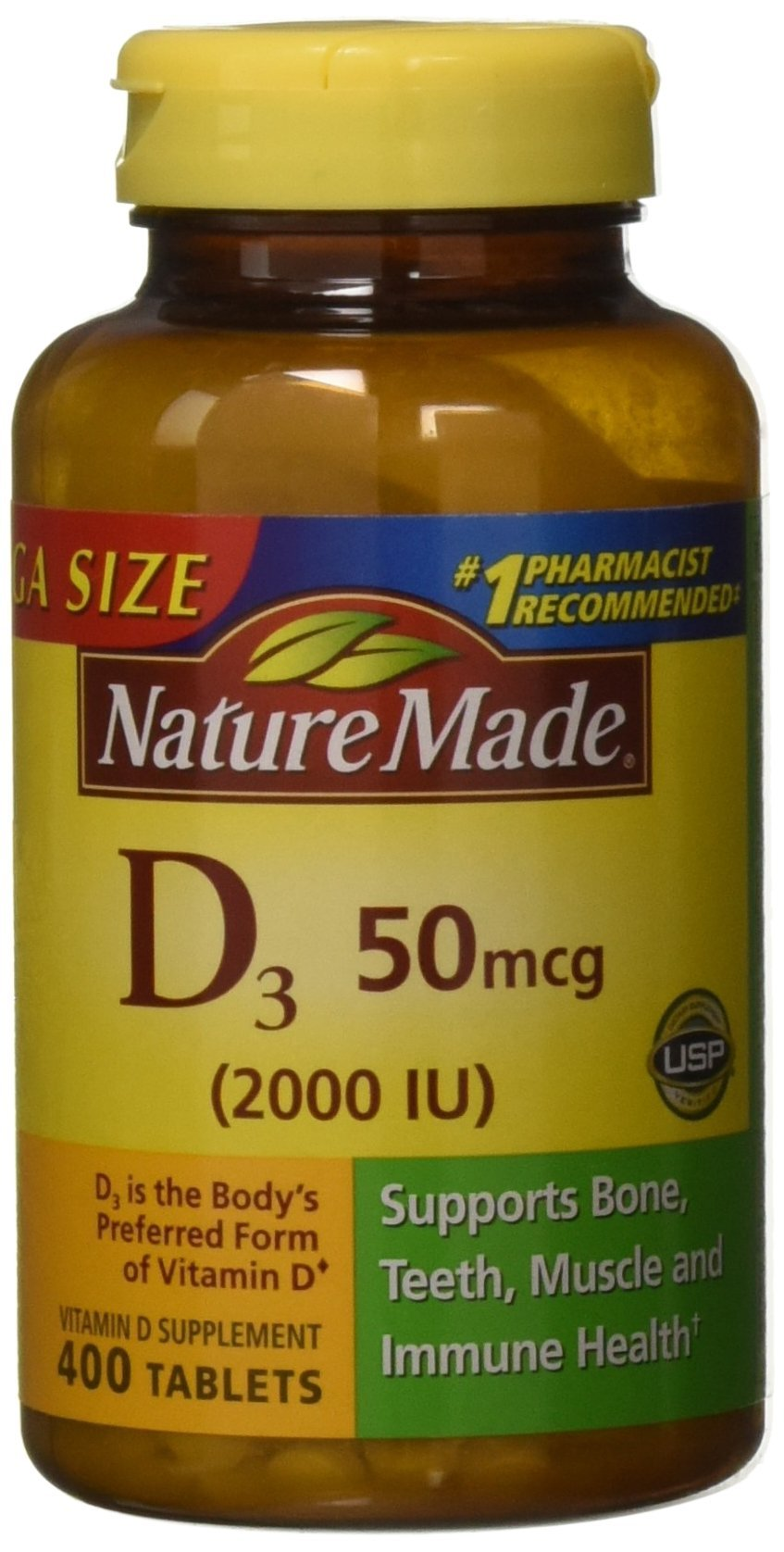 NATURE MADE D3, 2000 Iu, Tablets, 400 Count