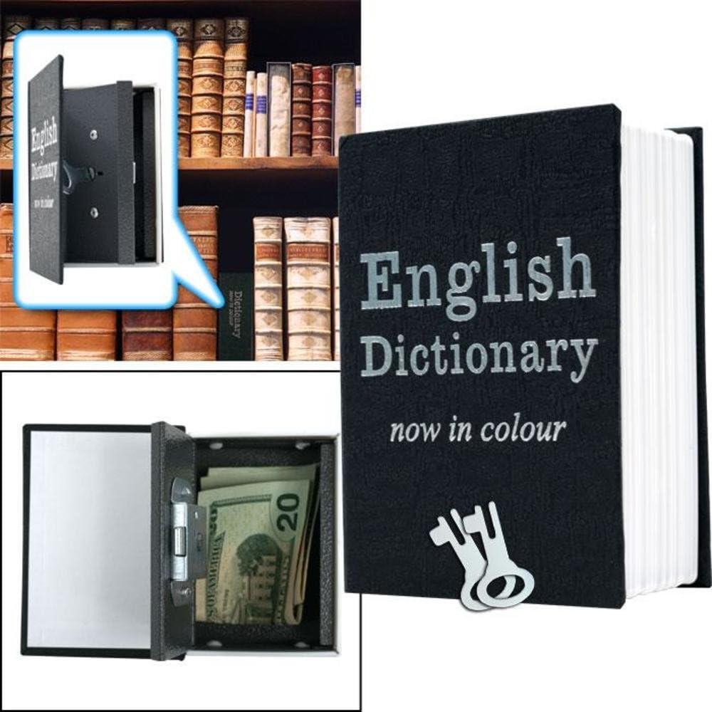 Metal 4.5 X 3 INCH Mini Dictionary Diversion Book Safe w// Key Lock