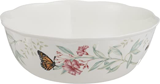 Lenox Butterfly Meadow Serving Bowl White Body Decorative Bowls Serving Bowls