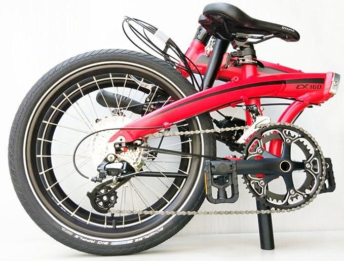 Oyama CX 16d mate rojo bicicleta plegable bicicleta: Amazon.es: Deportes y aire libre