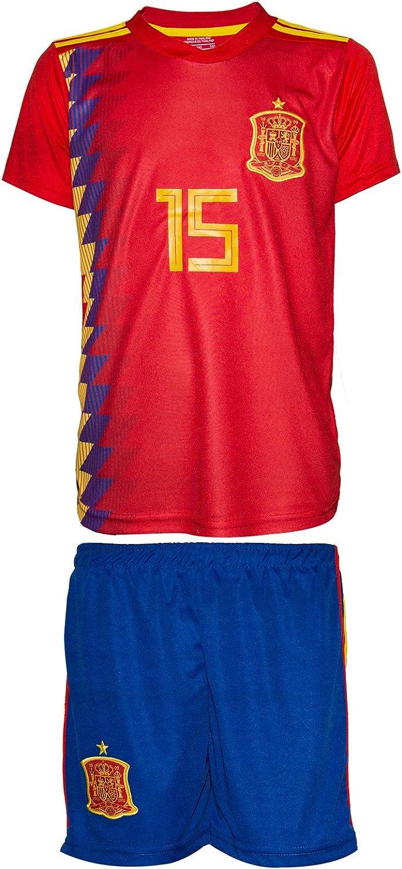 España Copa del Mundo wm18 # 15 Ramos – Niños Camiseta y pantalones: Amazon.es: Deportes y aire libre