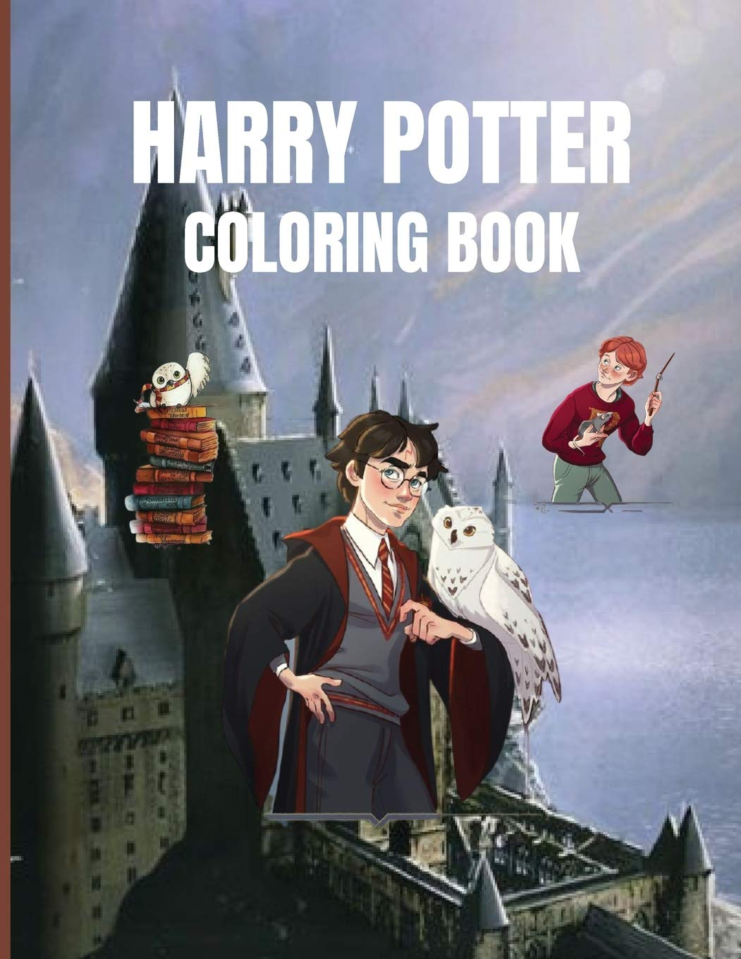 Harry Potter Coloring Book: Fantastic Activity Book, Magical Creatures and Places