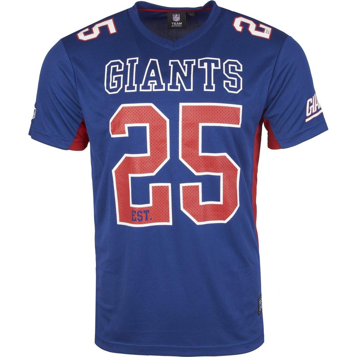 Majestic New York Giants Moro Est. 25 Mesh Jersey NFL T-Shirt majestic athletics