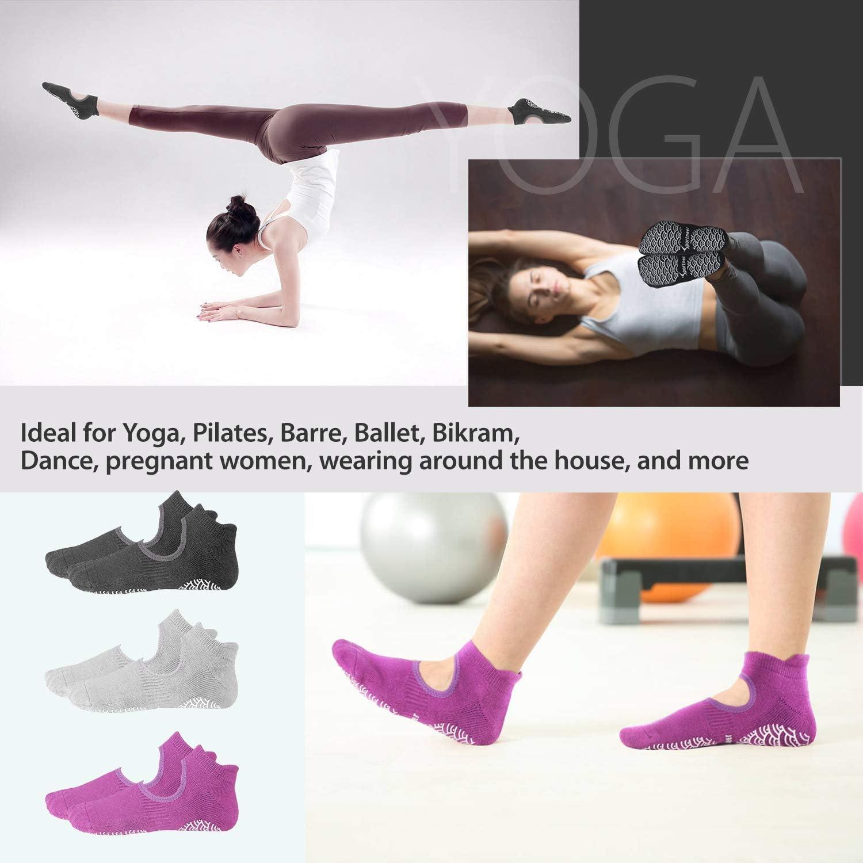 Tanz Ballett rutschfeste F/ünf-Zehen-Socken f/ür Pilates Barre Fitness QQWA Yoga Socken f/ür Frauen mit Griffen Training
