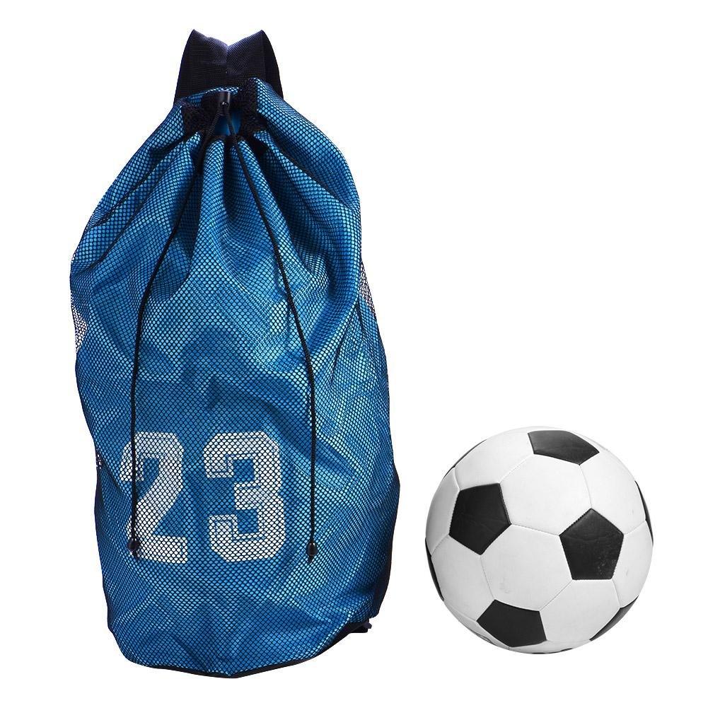 Mochila con cord/ón deportivo Mochila con correa para el hombro Mochila ligera y plegable con red de pelota para todos los deportes: bolsa de f/útbol baloncesto b/éisbol para j/óvenes voleibol