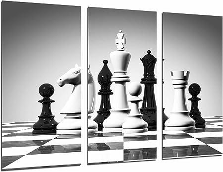 Poster Fotográfico Juego de Mesa, Fichas Ajedrez Blanco y Negro, Tamaño total: 97 x 62 cm XXL: Amazon.es: Hogar
