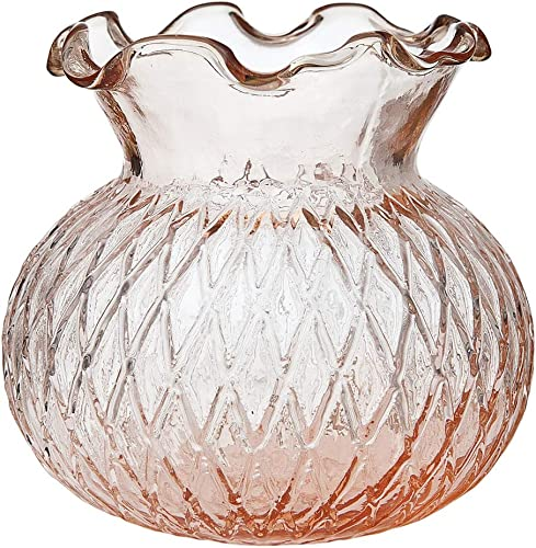 Cultural Intrigue Luna Bazaar Vintage Glass Vase 4-Inch