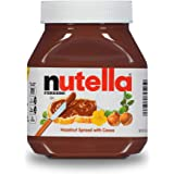 Nutella Chocolate Hazelnut Spread, Perfect Christmas Stocking Stuffer and Topping for Holiday Treats, 26.5 Oz Jar