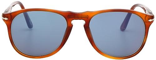 e70fa759132 Persol 9649 Aviator Sunglasses 96 56 Terra Di Siena Light Havana   Blue 52  mm
